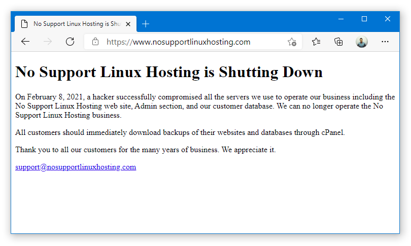 No Support Linux Hosting (NSLH) Shuts Down After Attack, Two More Compromised